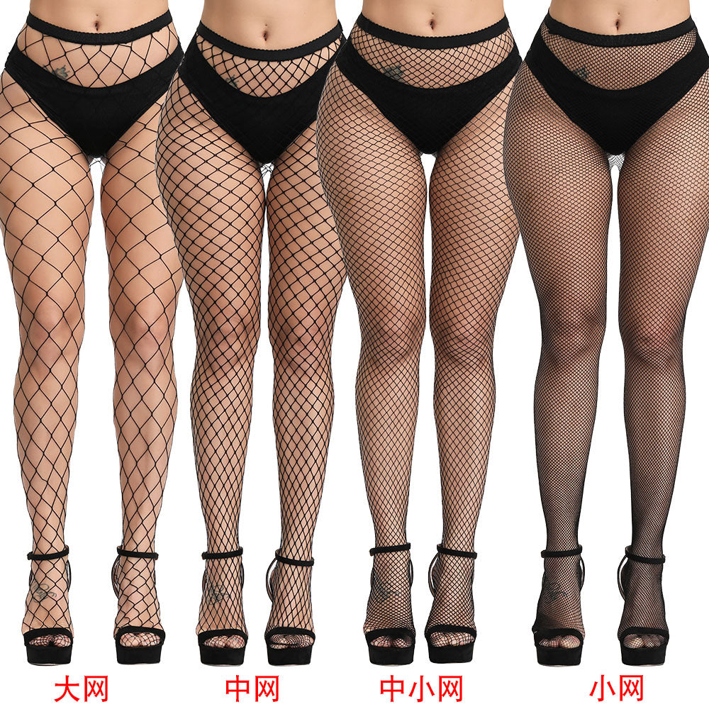 Fun wholesale mesh eye socks pantyhose big net small net stockings female summer ultra-thin bottom jacquard net stockings foreign trade