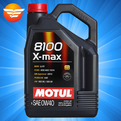 Mote engine oil 8100 X-MAX 0W-40 5 liters imported fully synthetic lubricant model grease