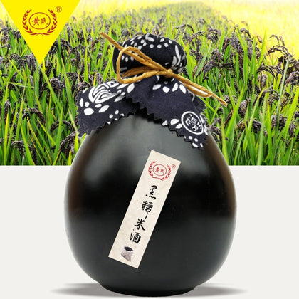 Huang's / black glutinous rice wine yellow wine flower fruit wine fermented wine brewing wine low wine catering bar custom wholesale