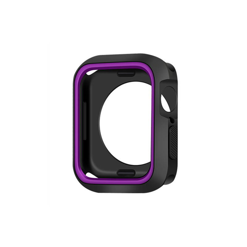 Suitable for Apple Watch 4th generation Apple Watch Shell iWatch123 Generation Universal Two-color Shell tpu Soft Shell Five Generations