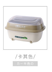Chaocheng Plastic Drain Bowls Tableware Storage Box Transparent Double Drip Cleaning Cupboard Multipurpose Creative Bowl