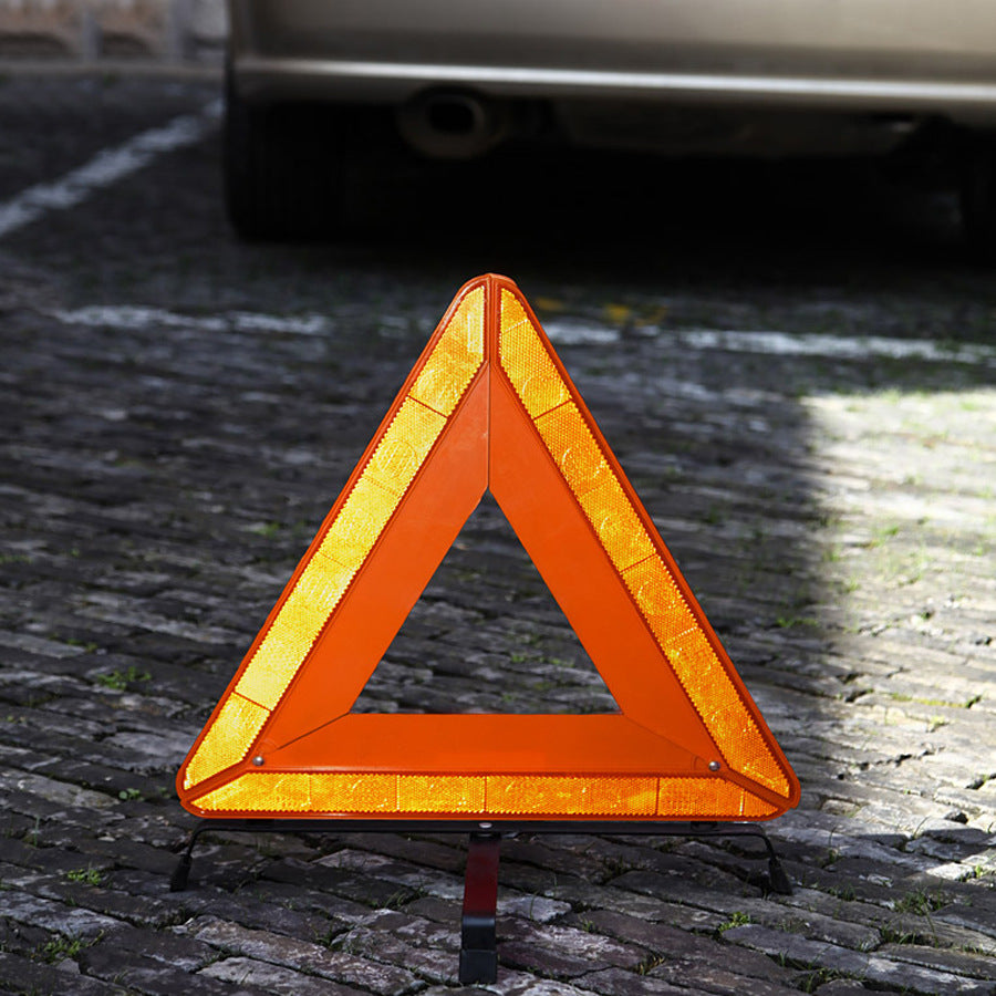 Car large folding tripod vehicle safety triangle reflective parking warning sign