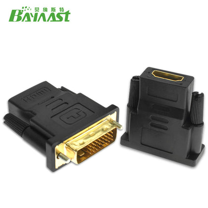 DVI adapter DVI (24+1) revolution HDMI female DVI converter head high frequency adapter