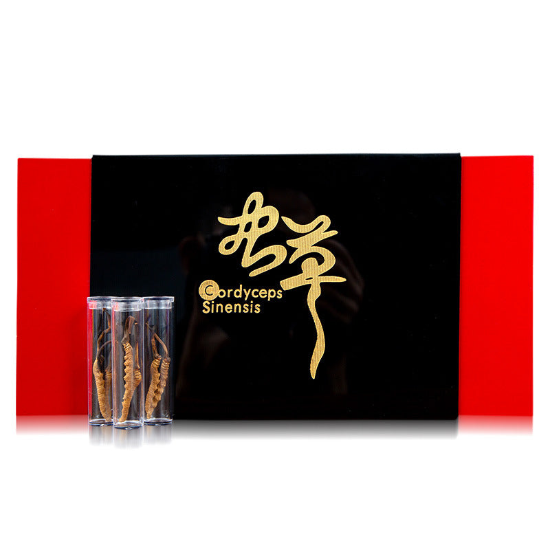 Yang Xiaoyan carefully select the Cordyceps sinensis authentic that curved foot dry Cordyceps gift box set wholesale tonic wholesale