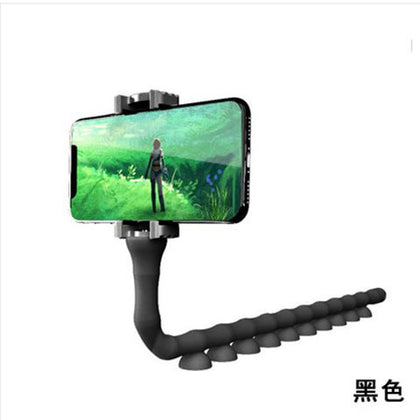 Factory wholesale germination mobile phone bracket lazy desktop bedside live support caterpillar octopus universal clip