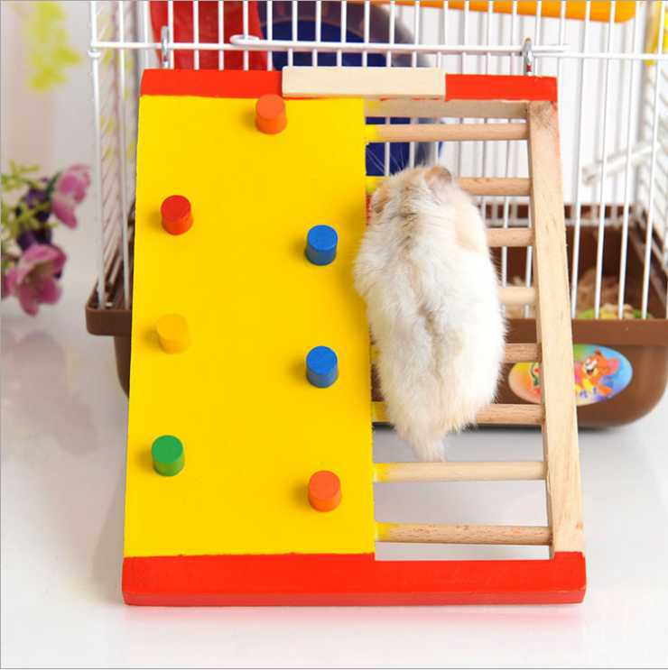 Hamster colorful climbing ladders original wooden small pet Dutch pig non-slip climbing stairs pet supplies wooden toys