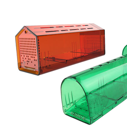 Amazon hot new design extra large plastic durable material trap cage mousetrap green home