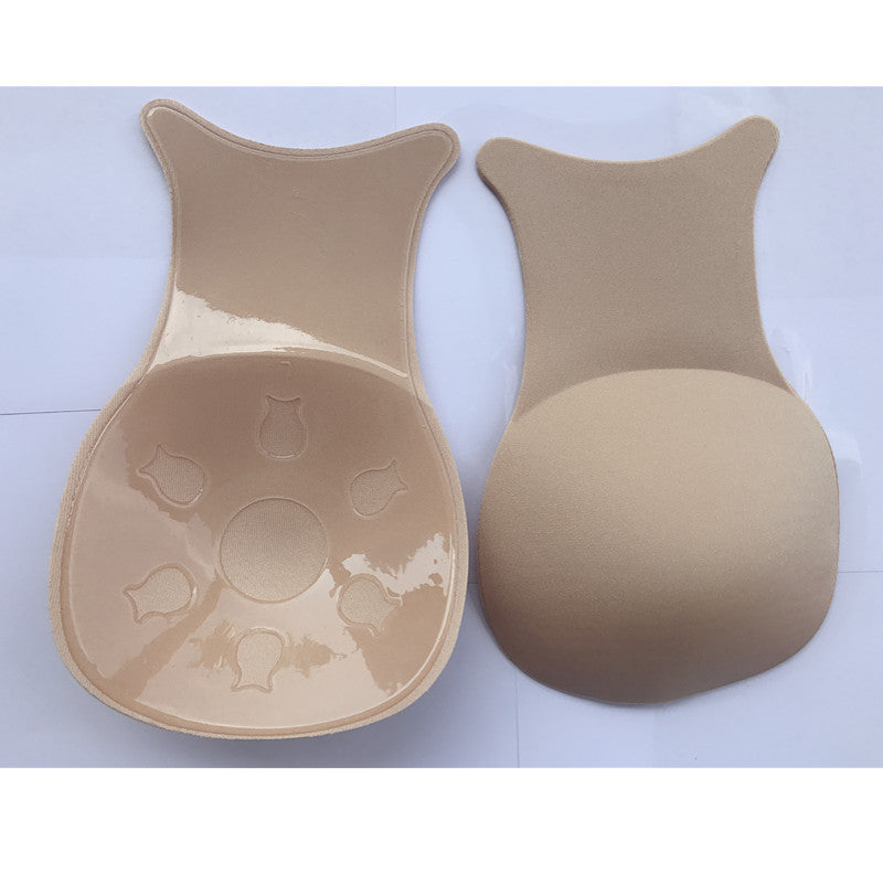 Super size 4XL cross-border female anti-bumping chest stickers Silicone lifting nipple anti-sagging invisible bra Wholesale