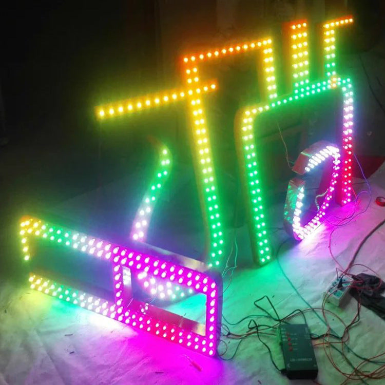 High-definition leaky word dot matrix word professional production LED luminous characters