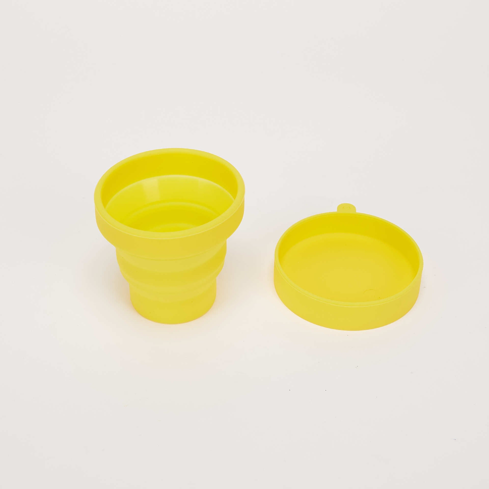 Camping travel telescopic Environmental Protection silica gel folding cup