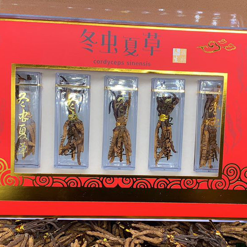 Cordyceps packing box High-grade plastic transparent plastic box 50 luxury gift boxes Winter Cordyceps empty box wholesale
