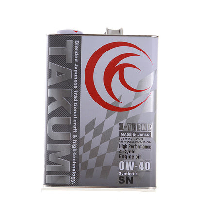 TAKUMI smith brand imported Japanese oil four types of PAO synthetic motor oil SN grade 0W40 4L