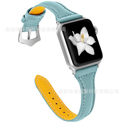 Applicable for Apple Apple Watch First Layer Leather Strap New Smart Watch Leather Strap 38 / 42mm