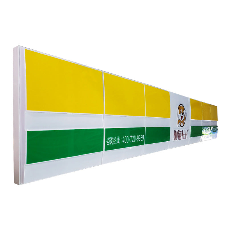 Large open aluminum frame convenience store outdoor advertising light box LED signboard finished plastic door light box custom