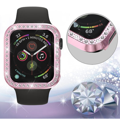 Suitable for Apple Watch case apple watch4th generation PC diamond hollow plating cover