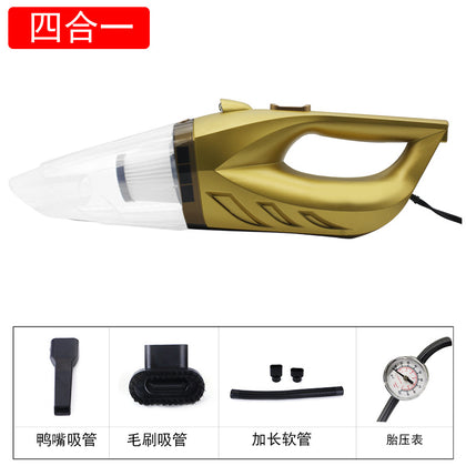 Five-in-one car vacuum cleaner with light pump air pump high power wet and dry dual-use USB rechargeable vacuum cleaner