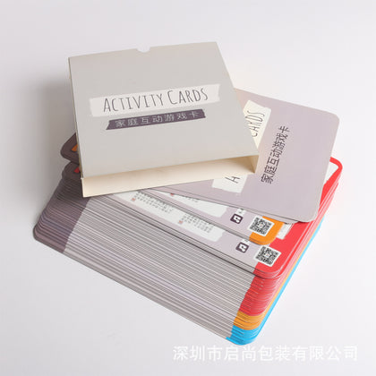 Shenzhen manufacturers custom graphic printing envelopes parent-child children tear not bad early education cognitive learning card customized