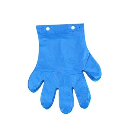 Disposable PE plastic gloves, point-breaking gloves are not easy to fall off, no sticky hands thickening