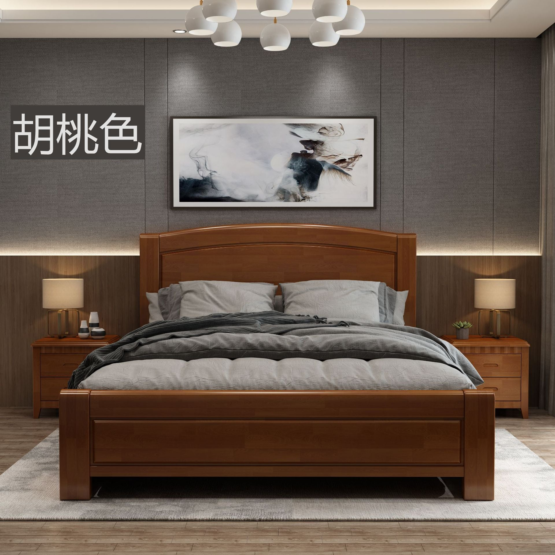 1 2 M New Chinese Style Solid Wood Bed 1 35 Modern Simple 1 8 M Double Kartzapper Com