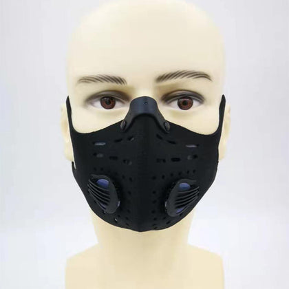 Manufacturers autumn and winter new dust-proof anti-fog three-dimensional black comfortable mask riding sports hanging ear activated carbon mask