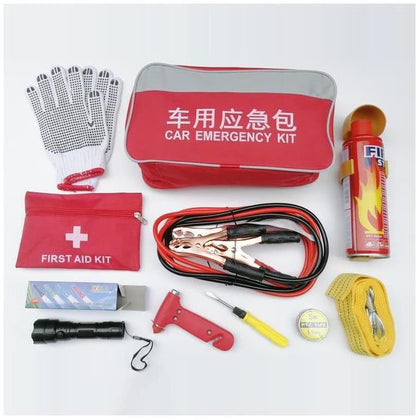 Car fire extinguisher small portable car emergency rescue kit car set multifunctional vehicle first aid kit