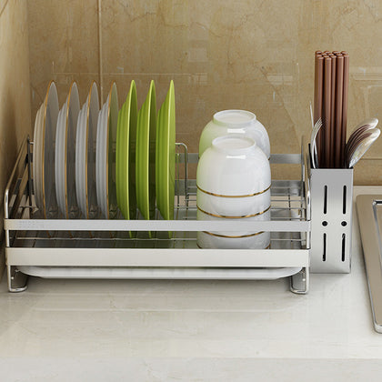 304 stainless steel dish rack drain rack air tableware chopsticks dishes dishes supplies storage box kitchen countertop shelf