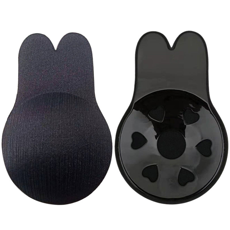 Cross-border new leopard-print breathable nipples, pull rabbit ears, chest stickers, silicone invisible chest stickers, lift breast