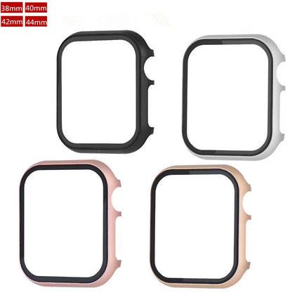 Suitable for Apple Watch 5th generation protective case aluminum alloy + tempered film integrated case hard all-inclusive iwatch protective cover