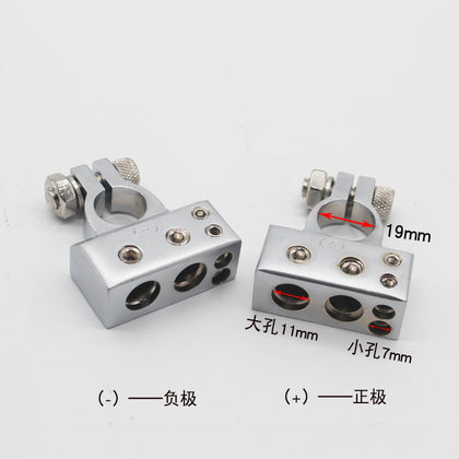 Factory direct car battery head Golden battery head Battery clip Car battery head Positive and negative pair