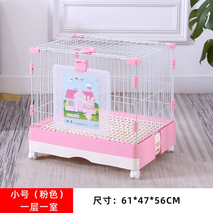 Factory direct rabbit cat cage anti-spray urine rabbit cage Dutch pig cage pet cage breeding home nest automatic cleaning of feces