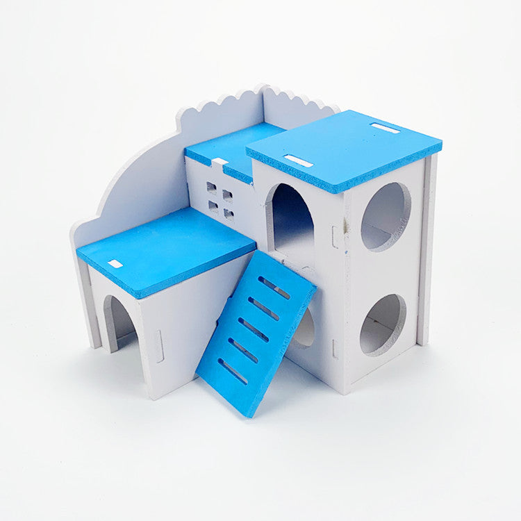 【Factory direct sales】Hamster Toy Villa One-story, two-story, three-story wooden house, sleeping room, small room, one generation