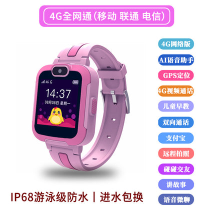 4G Netcom Children's Phone Watch Waterproof Touch Screen Smart Watch Positioning Telecom Mobile Unicom Wear Watch