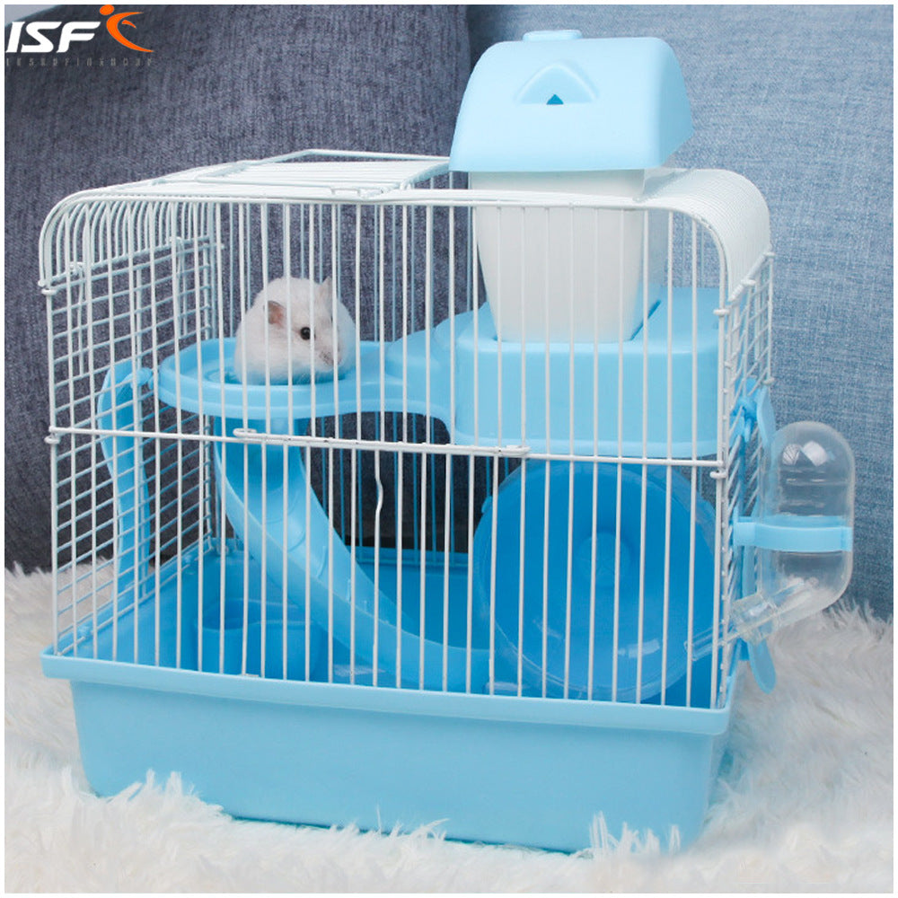Pet out hamsters portable cage wire cage shatter-resistant portable double-decker luxury villa manufacturers wholesale