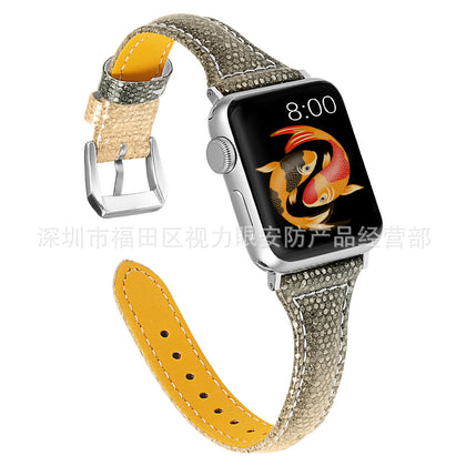 Applicable to apple watch Apple leather strap gradient leather strap iwatch strap factory direct sales