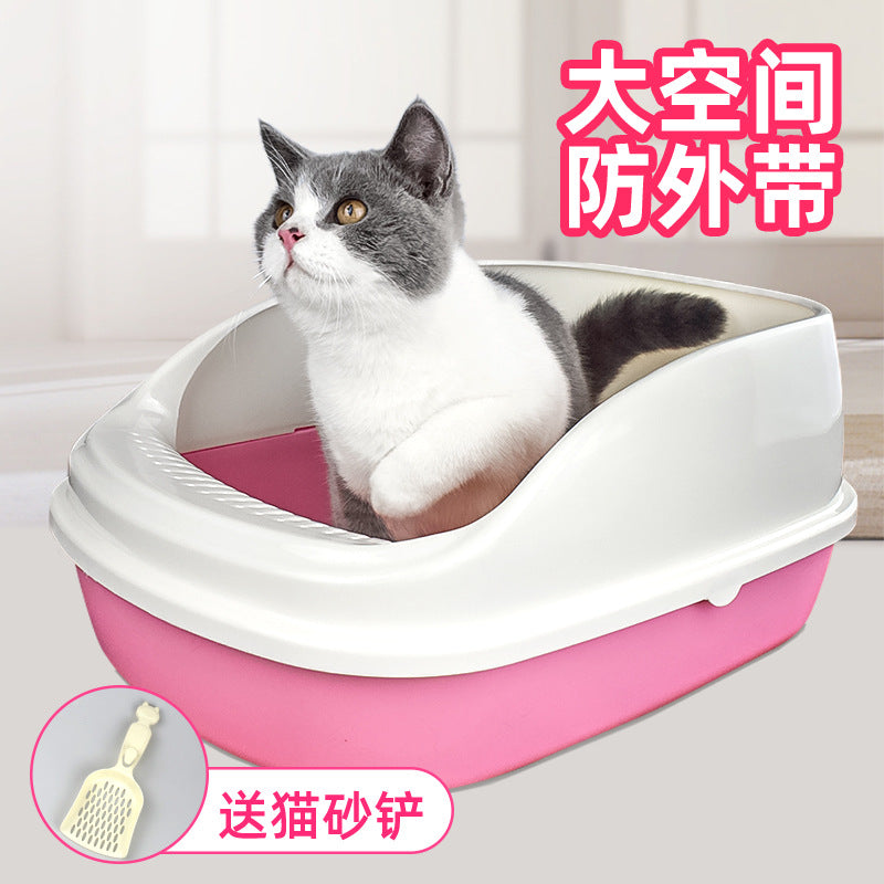 Cat litter cat toilet semi-enclosed large trumpet cat litter cat litter and cat supplies to cat litter wholesale