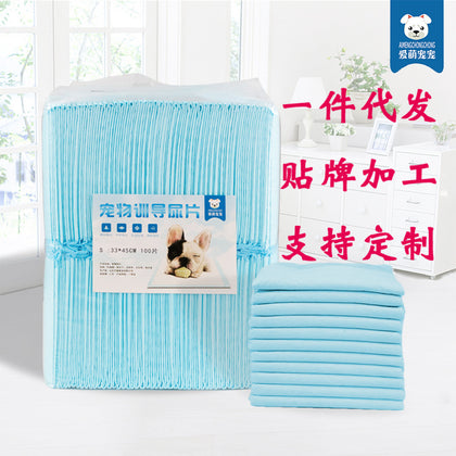 Pets taming diapers 100 pads thickened disposable absorbent diapers Impervious leak proof deodorant diapers