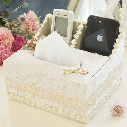 Home room room tissue box bedroom cute girl heart office dormitory bedside living room new decoration simple