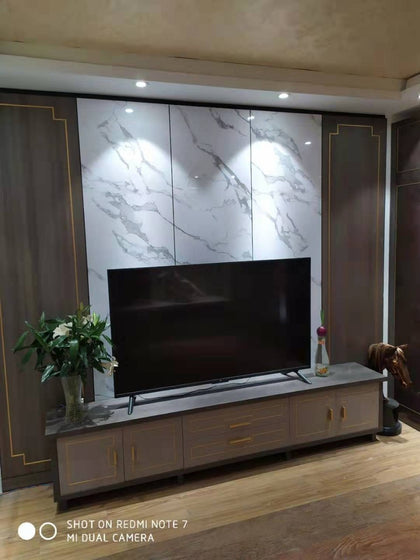 Light luxury series wardrobe cabinet wine cabinet TV cabinet door shoe cabinet background wall inlaid metal bar