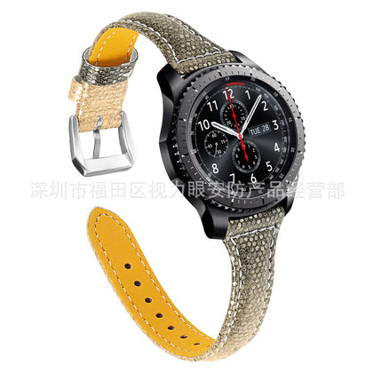 For Gear S3 frontier smartwatch Samsung S3 frontier leather strap