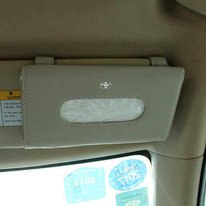 Sun visor box pull-out car interior sunroof paper towel car creative pumping microfiber holster Yifan pumping