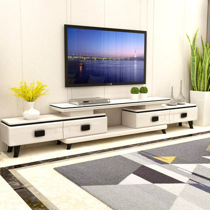 2.4-3.1m telescopic glass TV cabinet package installation