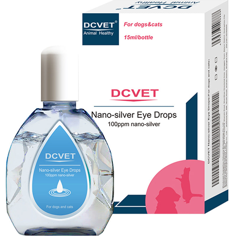 That non-Pu nano silver eye drops DCVET pet dog cat to tears redness and inflammation anti-inflammatory eye drops