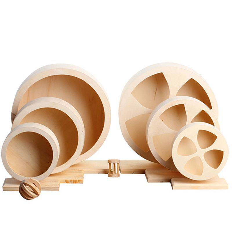 Amazon explosion models solid wood silent bracket running wheel hamster guinea pig Netherlands pig toy runner pet exercise fitness