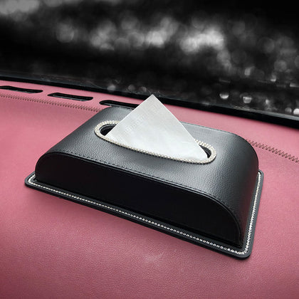 Armrest Tissue Box Pumping Napkin Diamond Car Box Seat Car Supplies Swan Car Pump Leather Seat