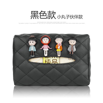 Leather paper bag pumping creative car pumping car napkins creative car hanging sun visor armrest box tissue box