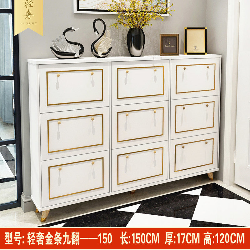 Shoe cabinet ultra-thin 17cm home white porch cabinet simple modern large-capacity dump bucket hall cabinet entrance shoe rack