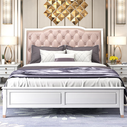 Huangpu simple light luxury solid wood bed ash wedding bedroom suite wedding American bed double bed Foshan wholesale