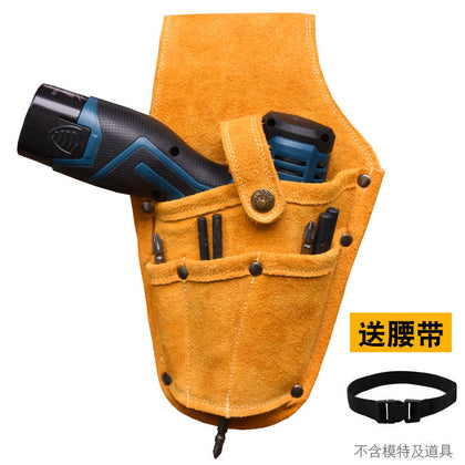 Woodworking nail pocket tool bag multifunctional waist bag male leather construction site construction portable tool bag hardware nail pocket