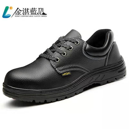 Wear-resistant non-slip rubber outsole anti-smashing anti-piercing shoes foot protection men's safety shoes labor insurance shoes factory direct sales