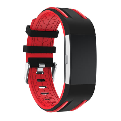 Suitable for fitbit charge2 silicone strap dual color bottom flower silicone strap charge2 apple strap